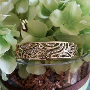 AVON Goldtone Zirconia Accents Bracelet